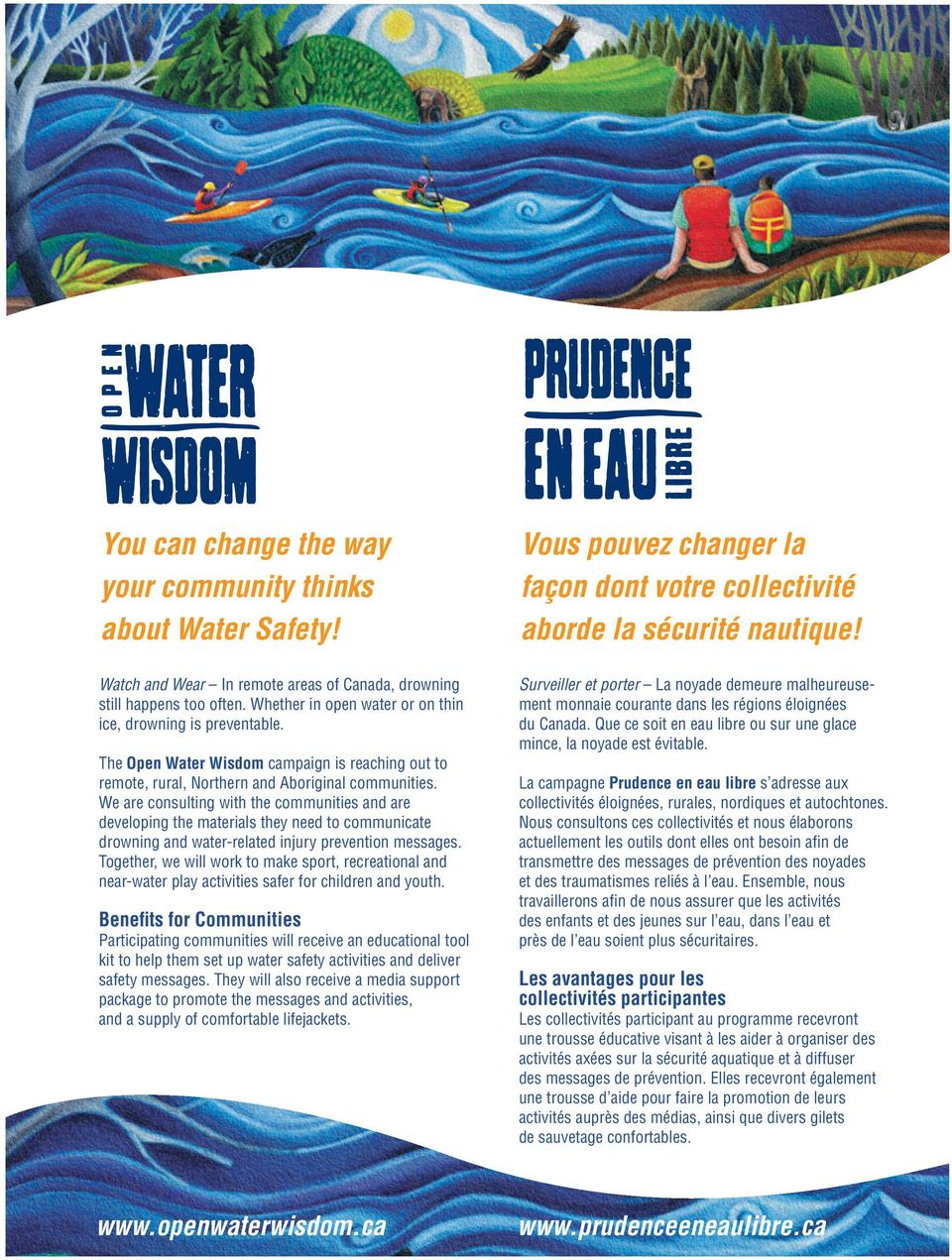 The Open Water Wisdom campaign is reaching out to remote, rural, Northern and Aboriginal communities.