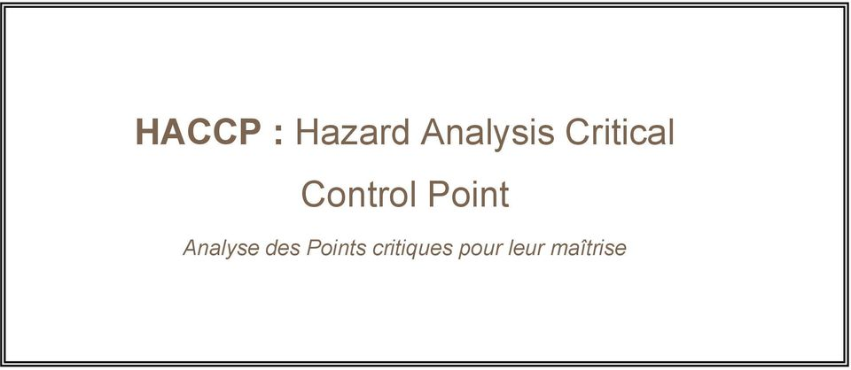 Analyse des Points