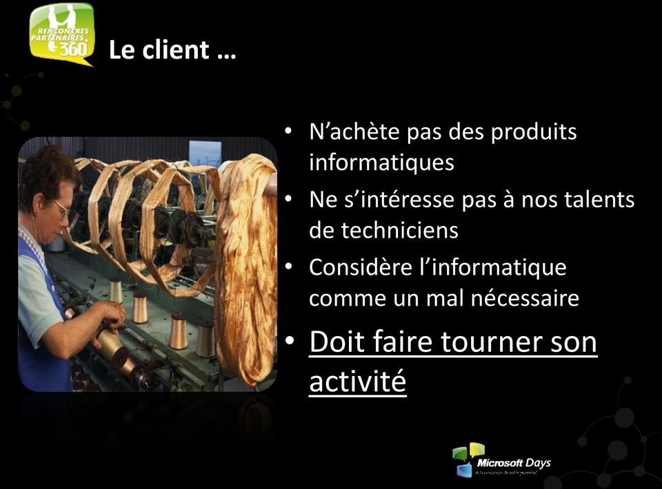 talents de techniciens Considère l