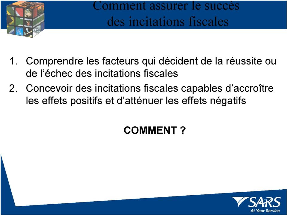 des incitations fiscales 2.