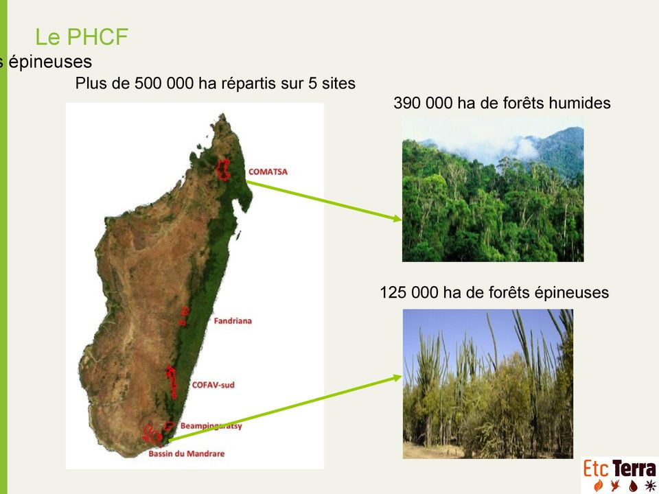 sites 390 000 ha de forêts
