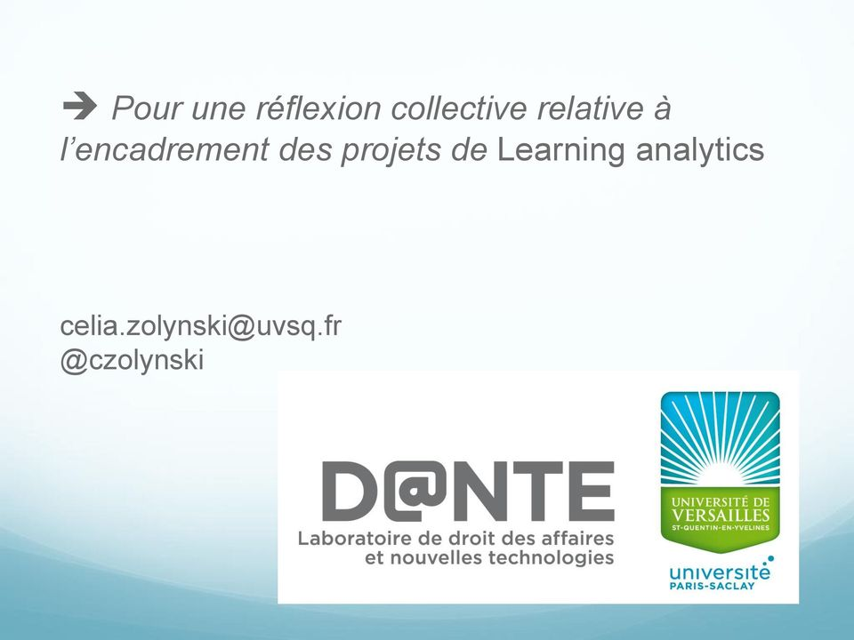 projets de Learning analytics