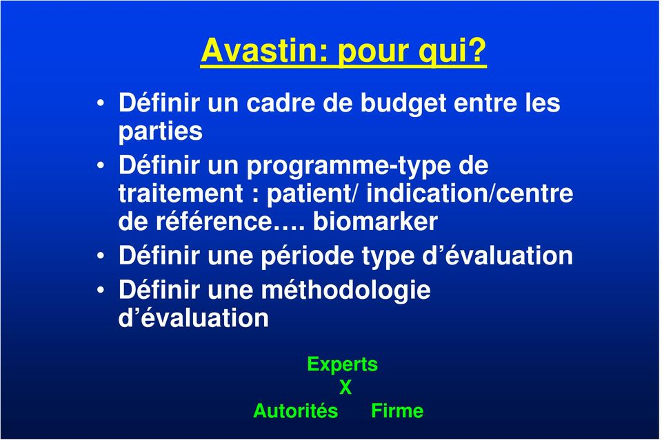 programme-type de traitement : patient/ indication/centre de