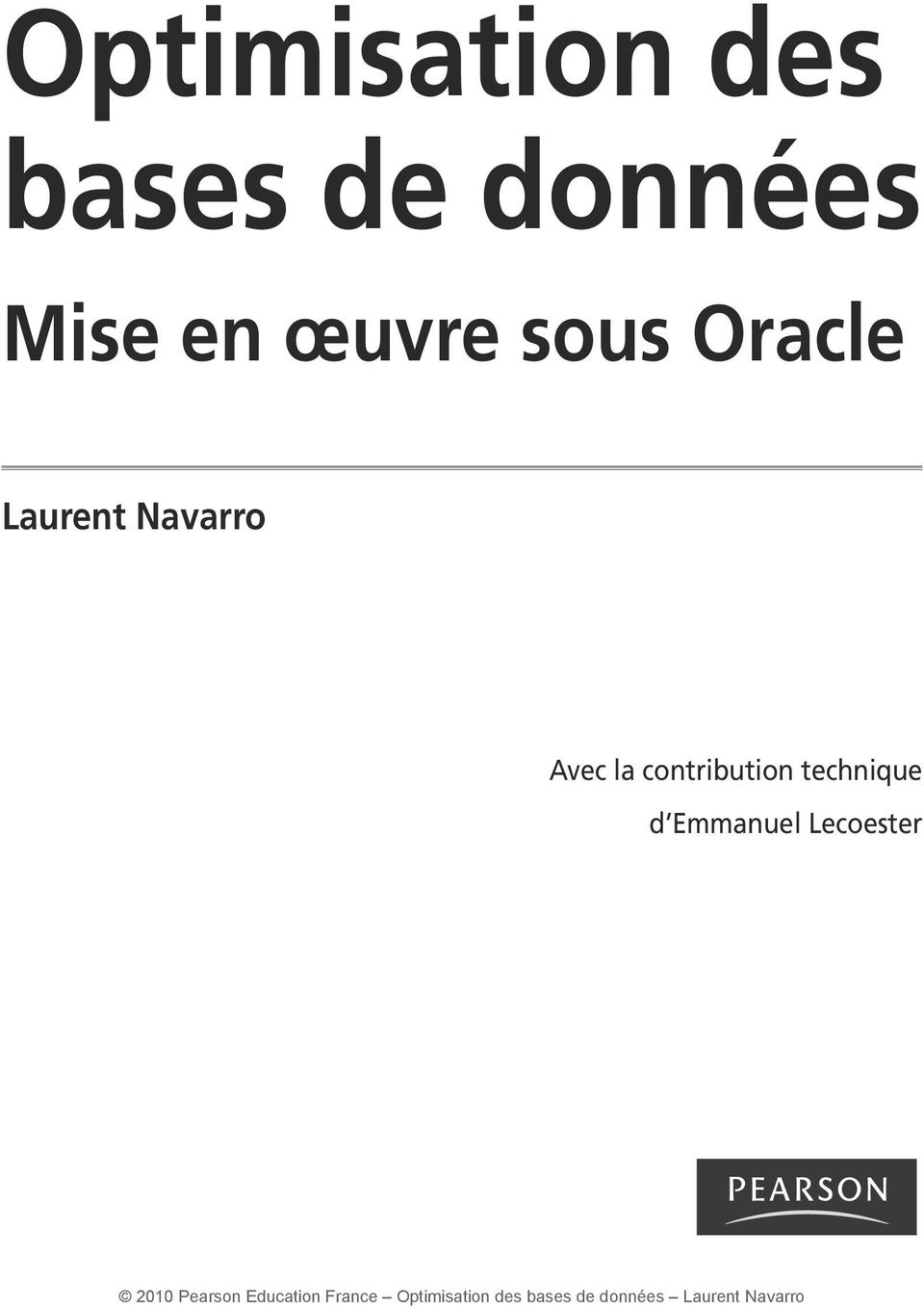 Oracle Laurent Navarro Avec la