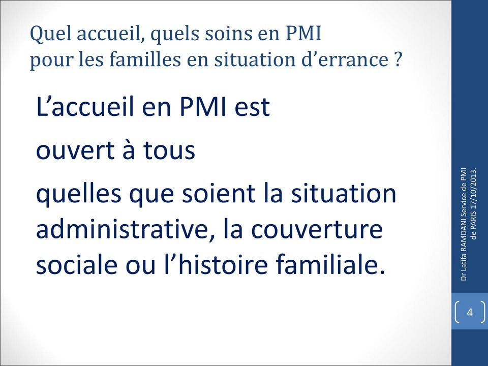 situation administrative, la