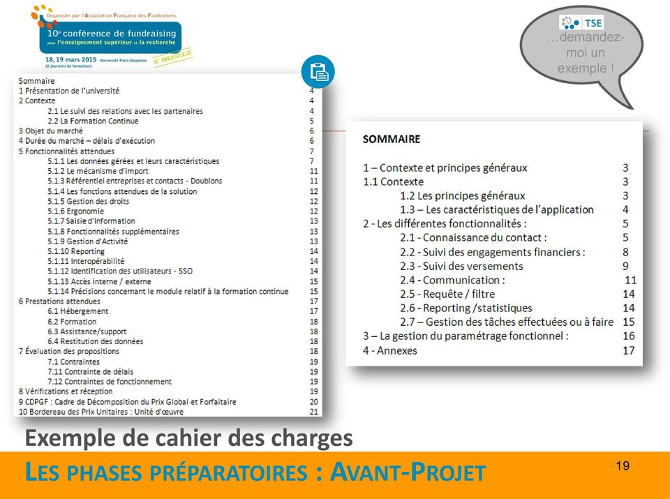 charges LES PHASES