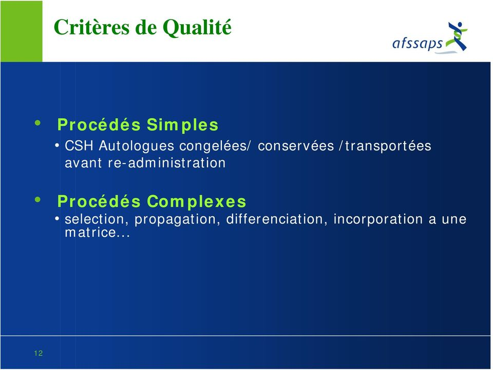 re-administration Procédés Complexes selection,