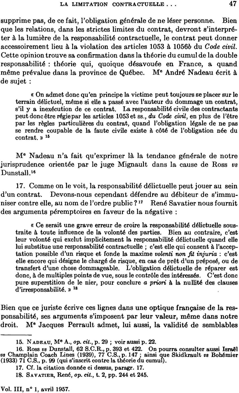 articles 1053 à 10566 du Code civil.