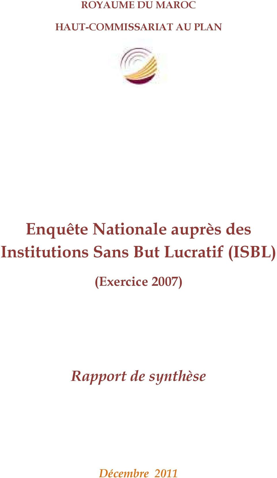 Institutions Sans But Lucratif (ISBL)