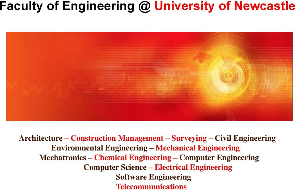 Mechanical Engineering Mechatronics Chemical Engineering Computer