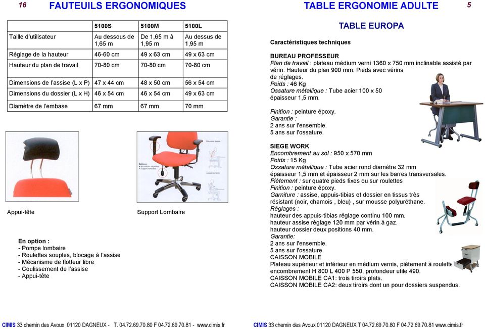 embase 67 mm 67 mm 70 mm TABLE EUROPA BUREAU PROFESSEUR Plan de travail : plateau médium verni 1360 x 750 mm inclinable assisté par vérin. Hauteur du plan 900 mm. Pieds avec vérins de réglages.
