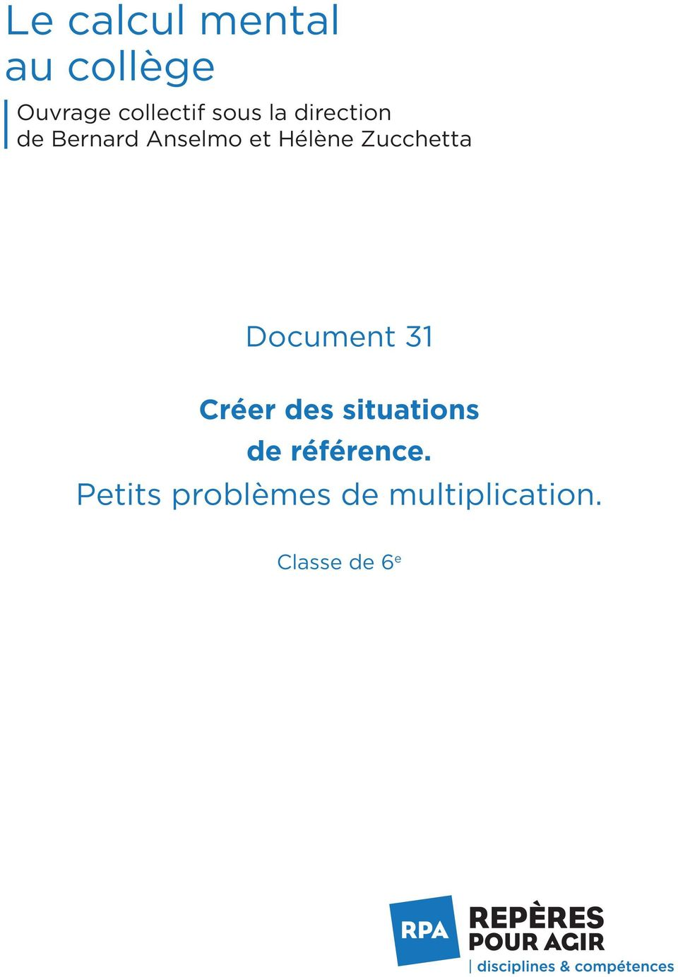 Zucchetta Document 31 Créer des situations de