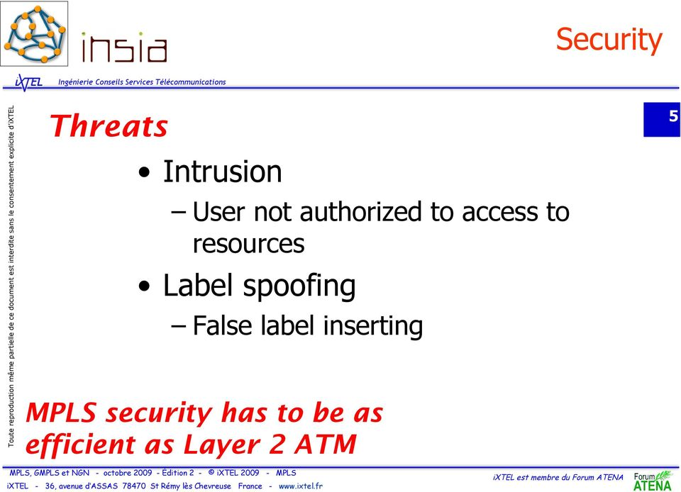 False label inserting MPLS security