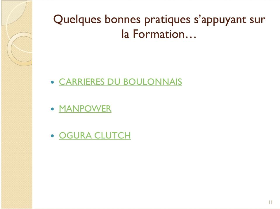 Formation CARRIERES DU