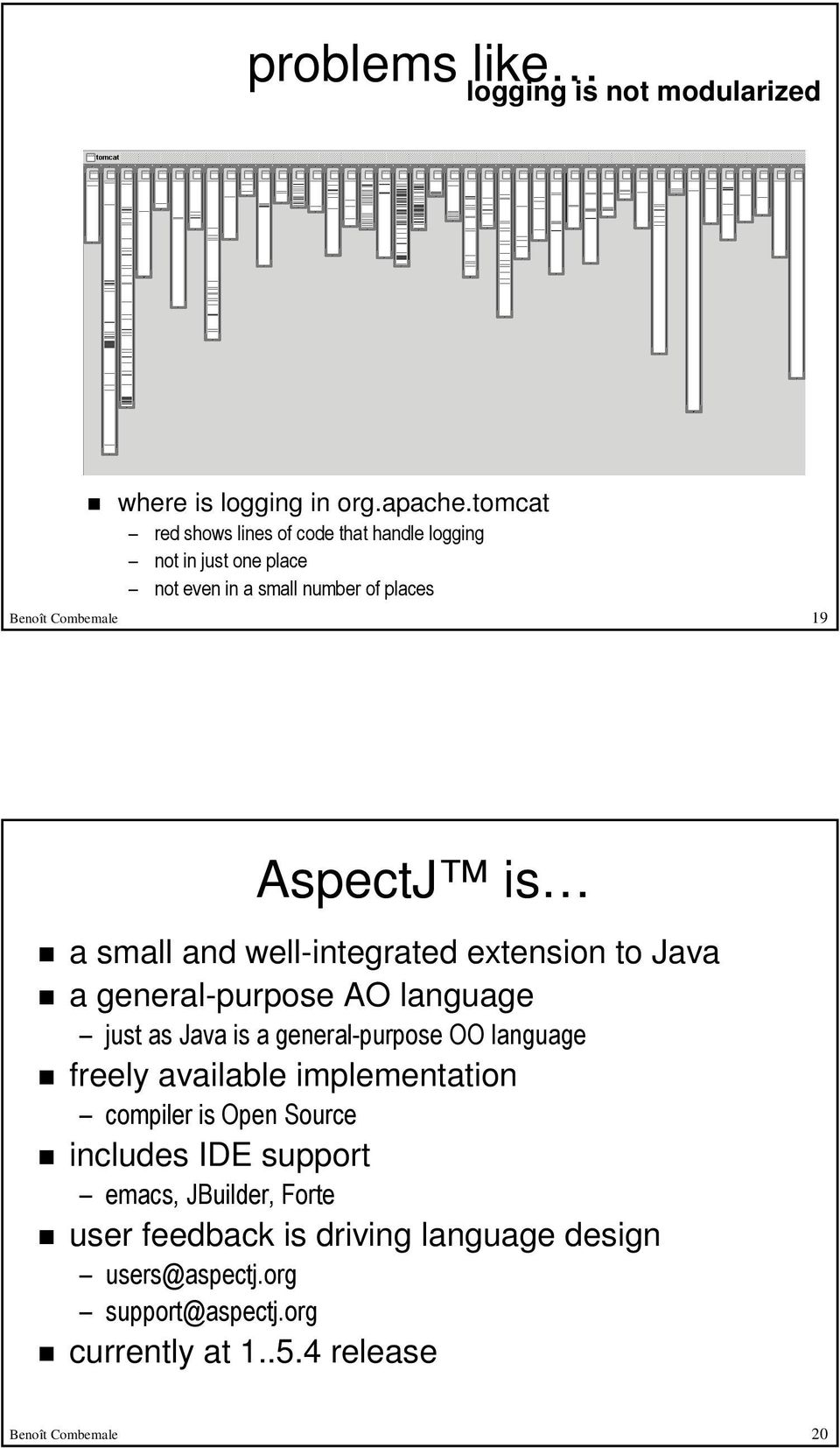 a small and well-integrated extension to Java a general-purpose AO language just as Java is a general-purpose OO language freely available