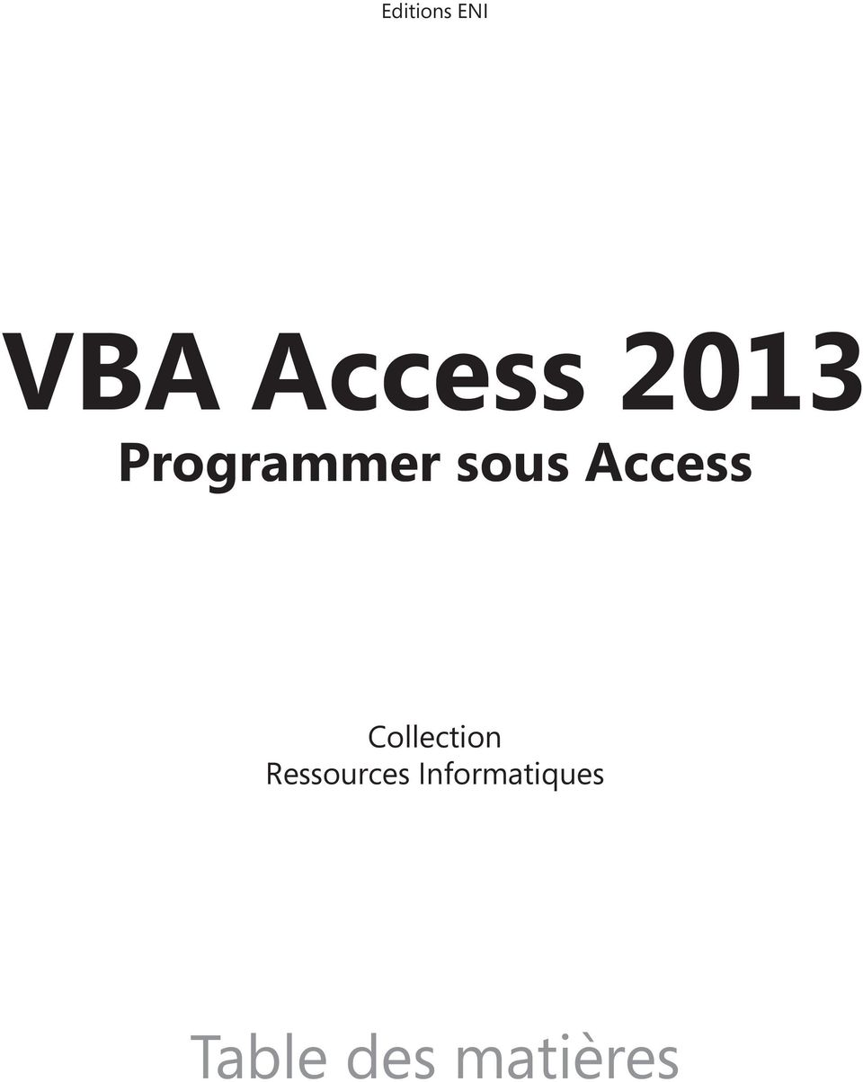 Access Collection