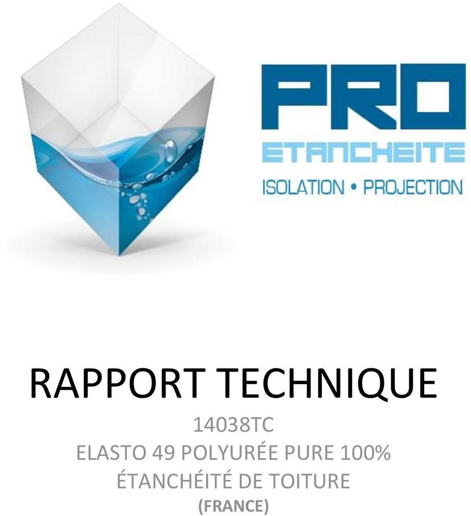 RAPPORT TECHNIQUE 14038TC ELASTO 49