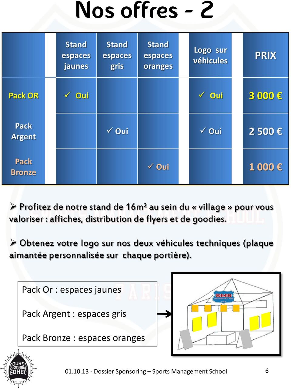 valoriser : affiches, distribution de flyers et de goodies.