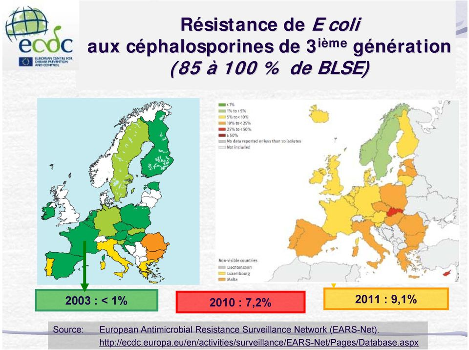European Antimicrobial Resistance Surveillance Network (EARS-Net).