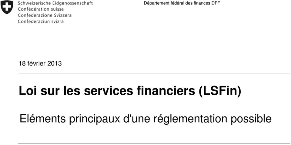 services financiers (LSFin)