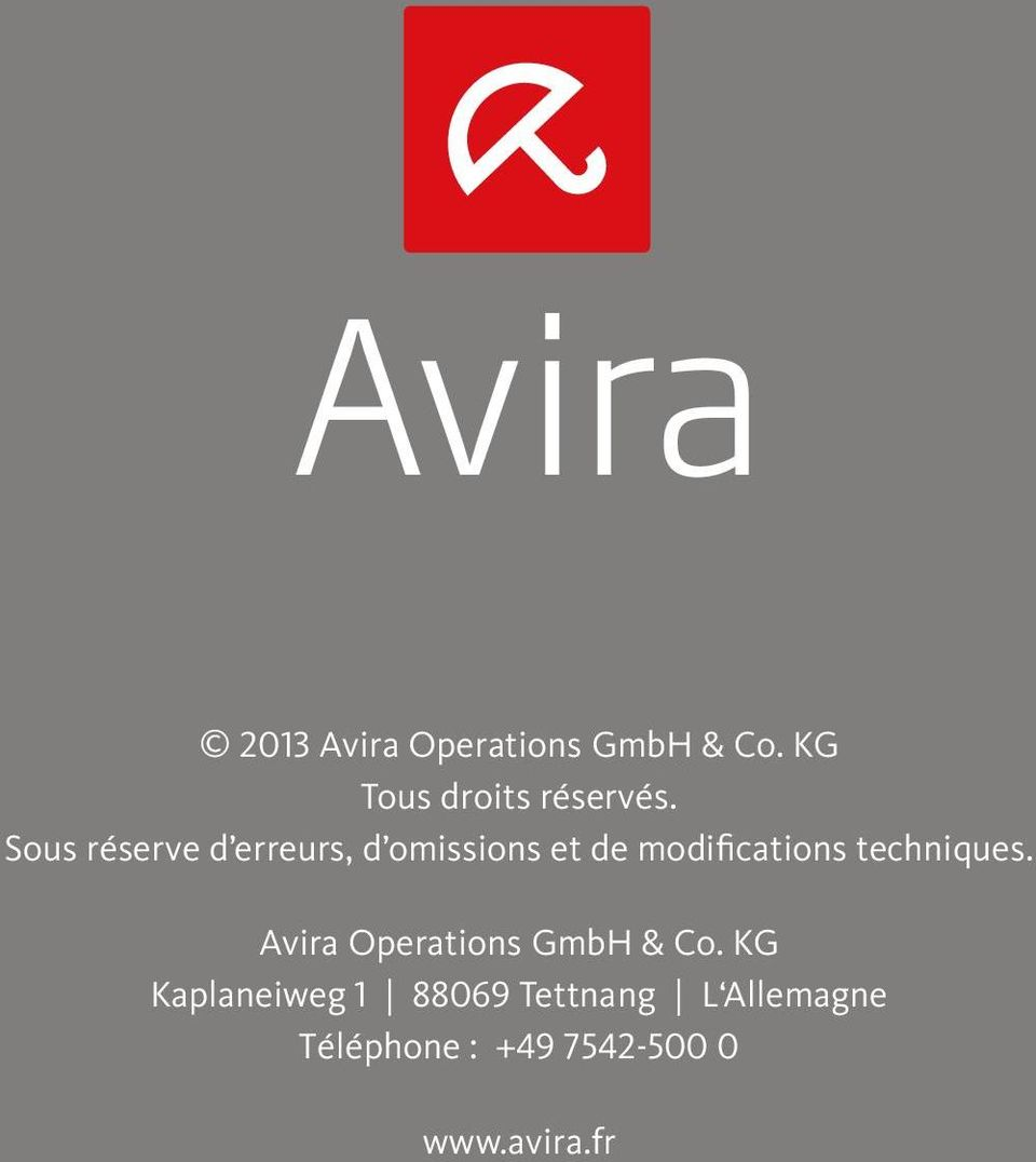 techniques. Avira Operations GmbH & Co.