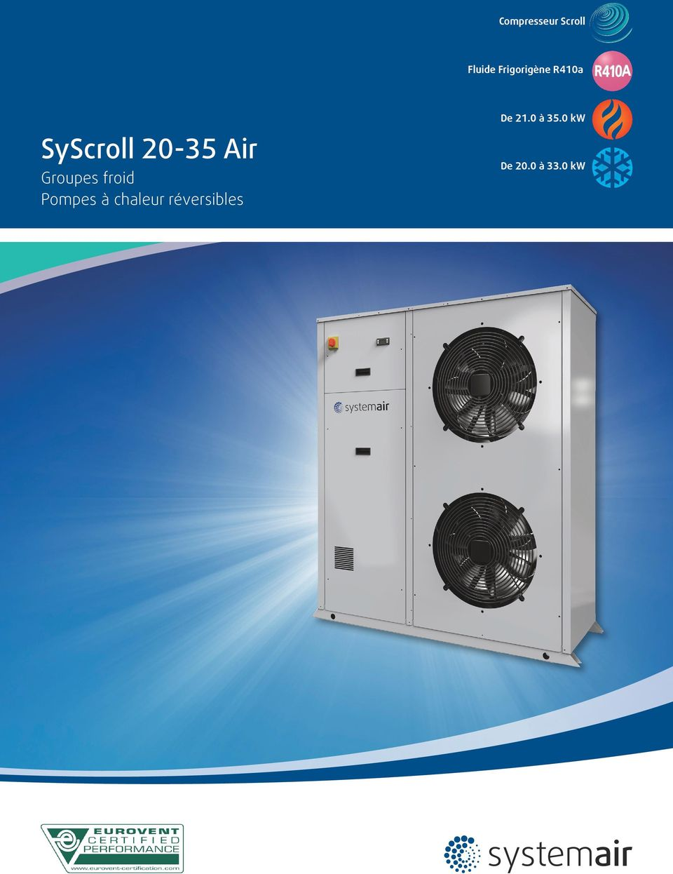 0 kw ycroll 20-35 ir Groupes froid