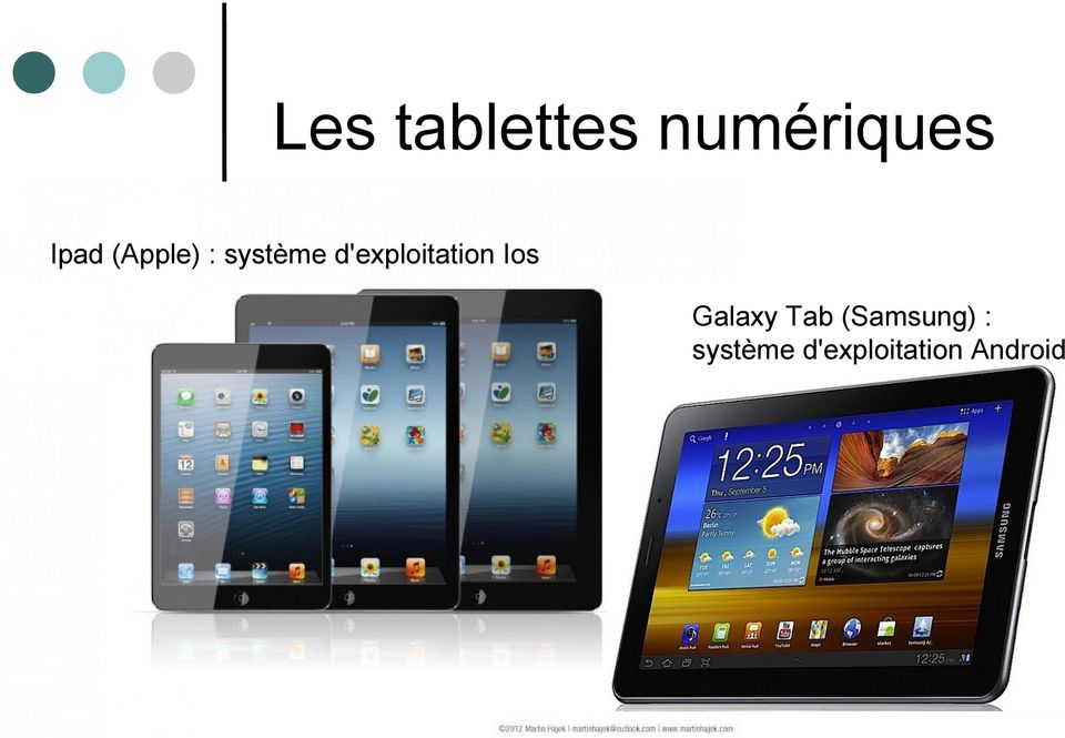 d'exploitation Ios Galaxy Tab