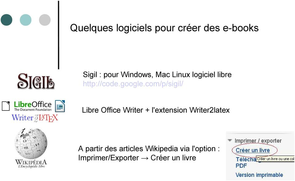 com/p/sigil/ Libre Office Writer + l'extension Writer2latex A
