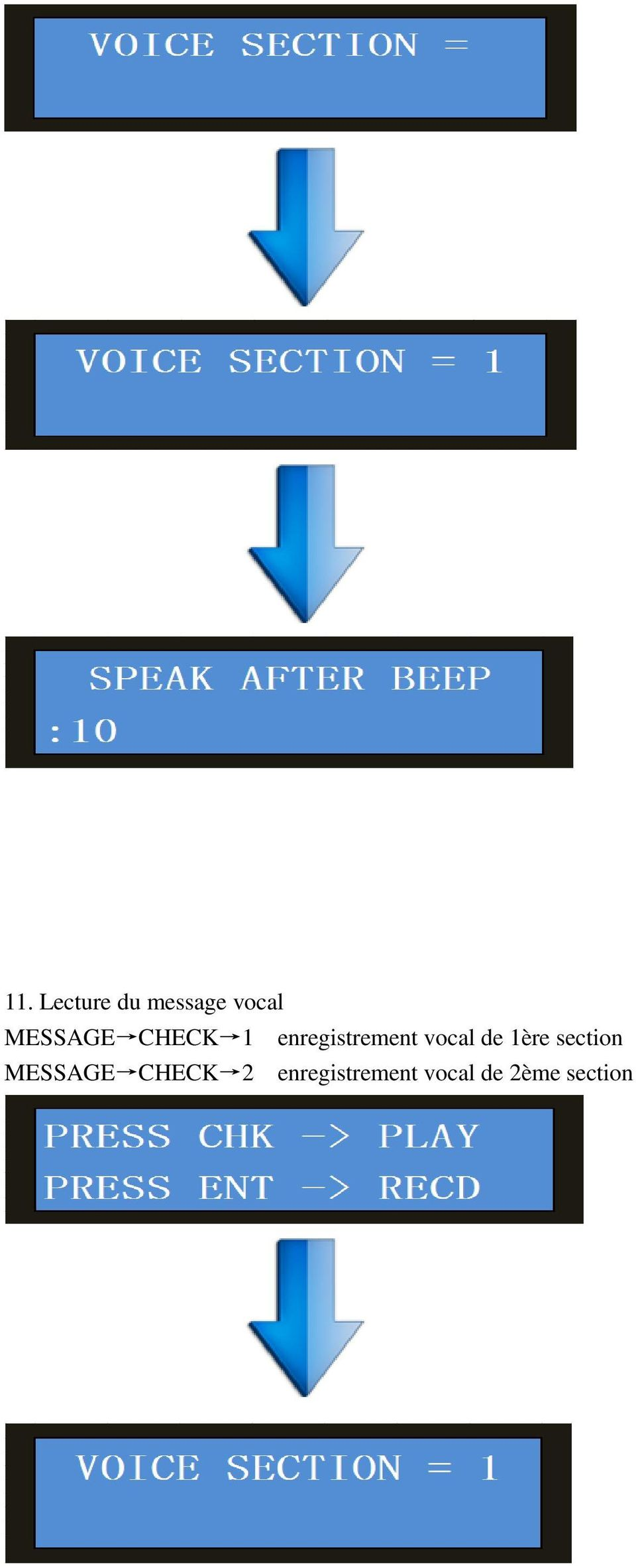 vocal de 1ère section MESSAGE