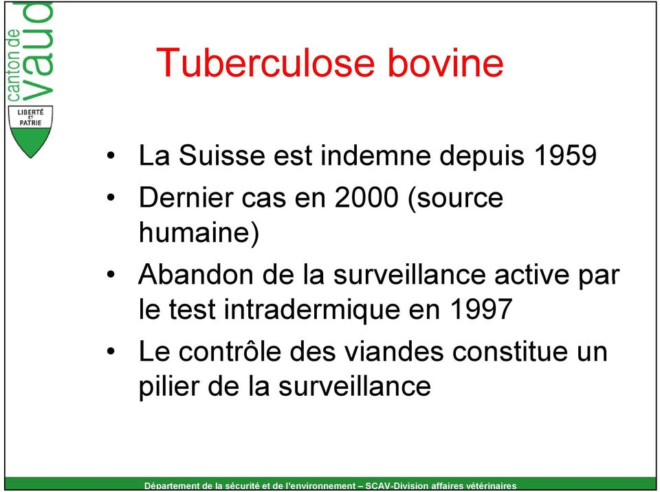 surveillance active par le test intradermique en 1997