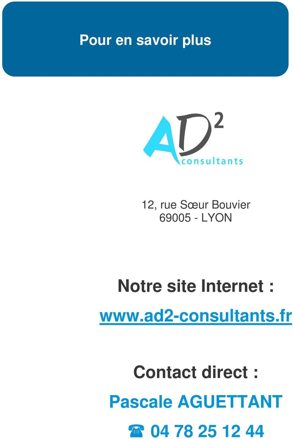 Internet : www.ad2-consultants.