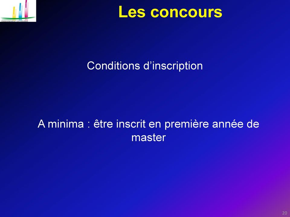 inscription A minima :