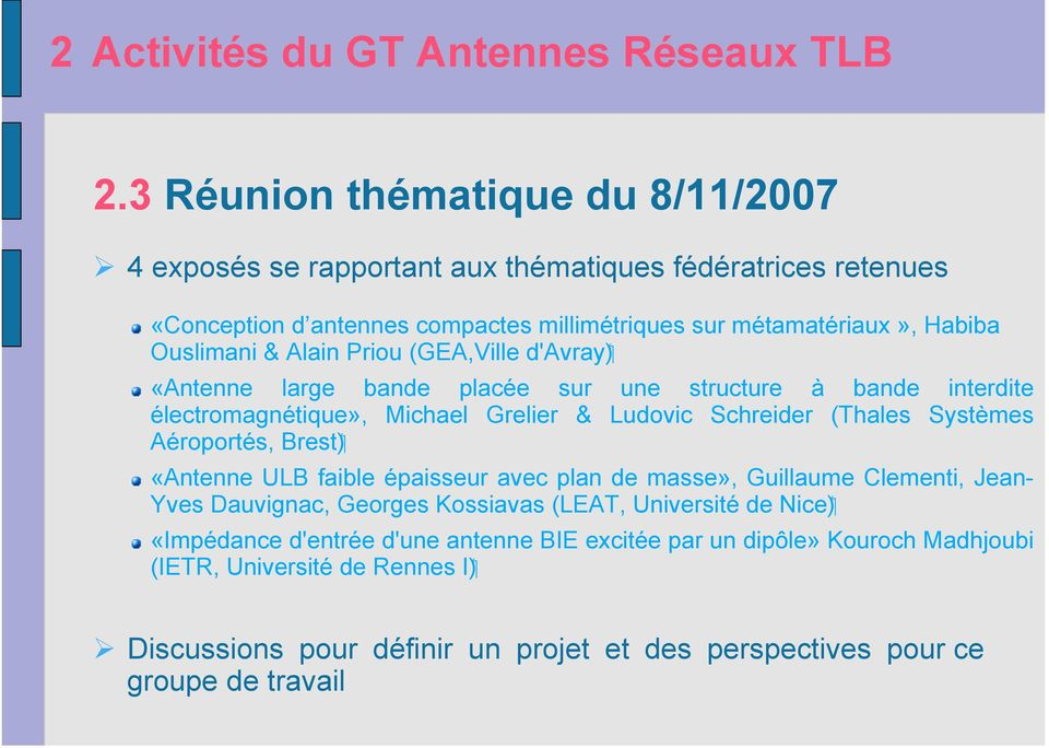 groupe de travail antennes r seaux tlb pdf. Black Bedroom Furniture Sets. Home Design Ideas