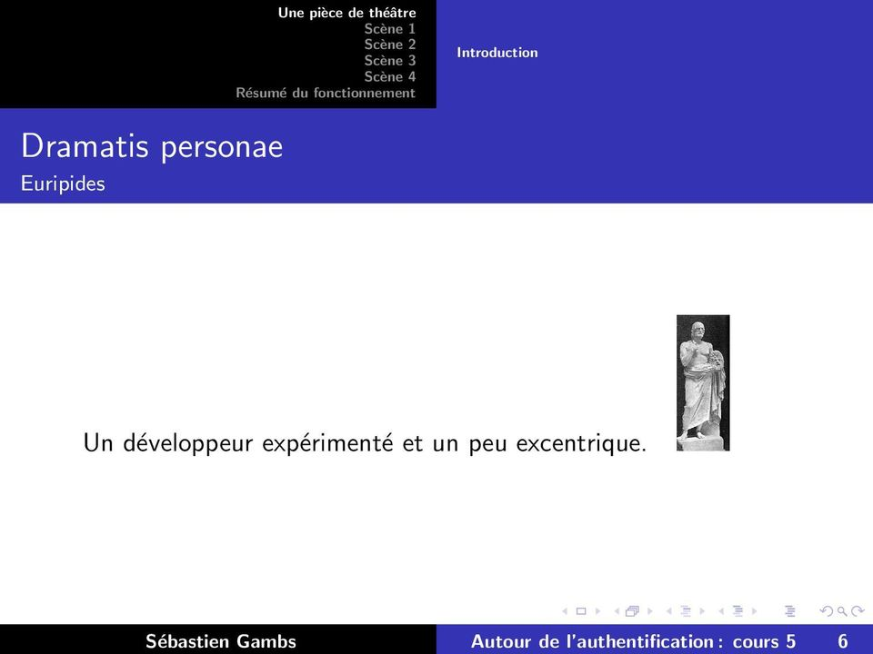 théâtre Introduction Dramatis personae