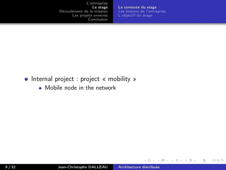 project : project «mobility» Mobile node in