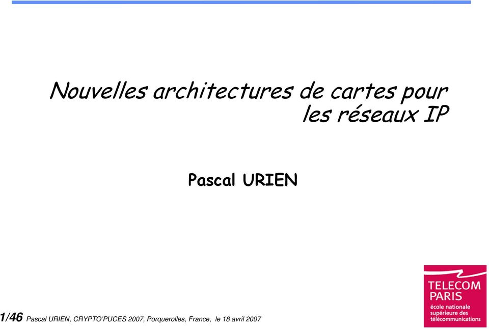 /46 Pascal URIEN, CRYPTO PUCES