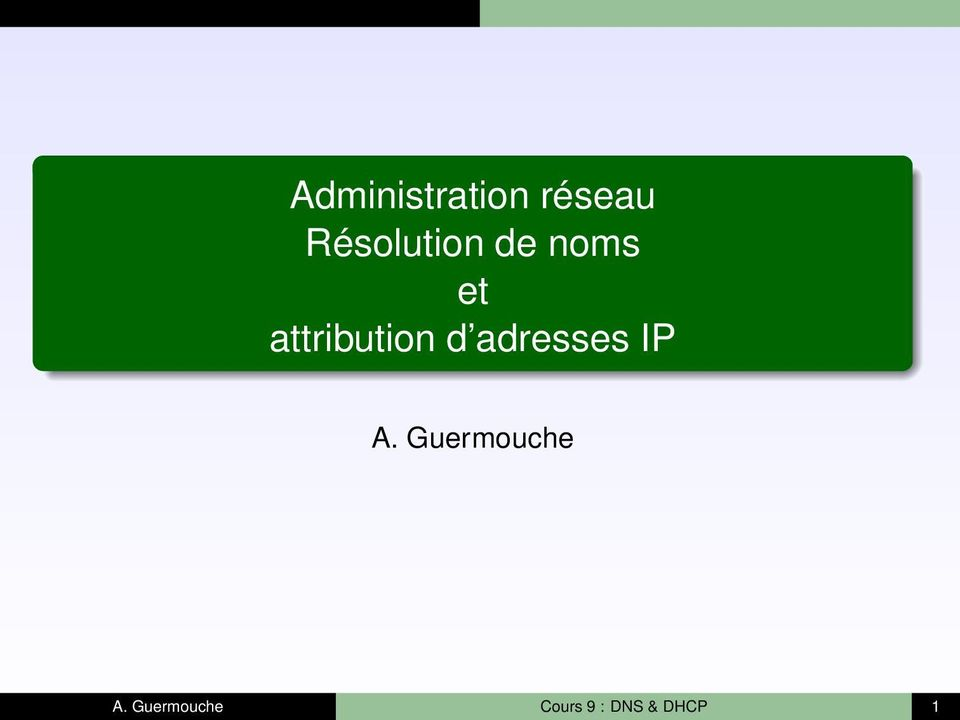 attribution d adresses IP A.