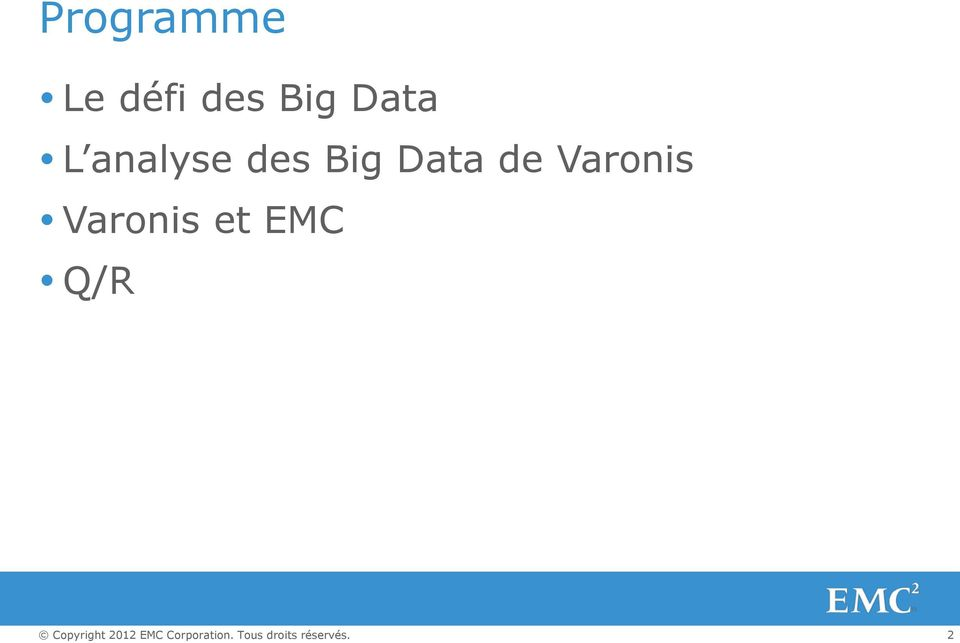 des Big Data de