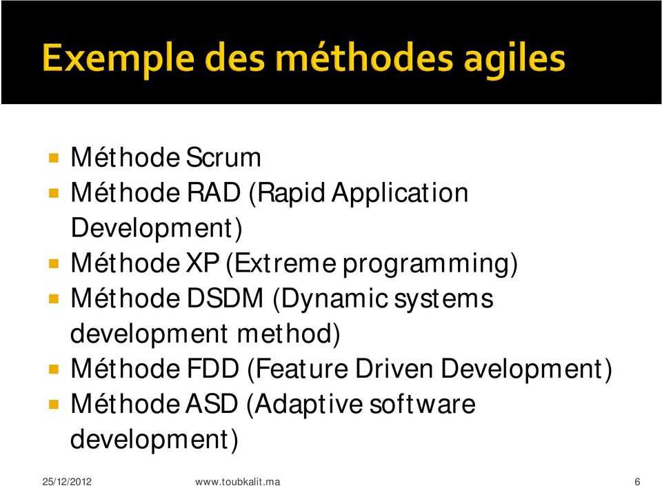 development method) Méthode FDD (Feature Driven Development)