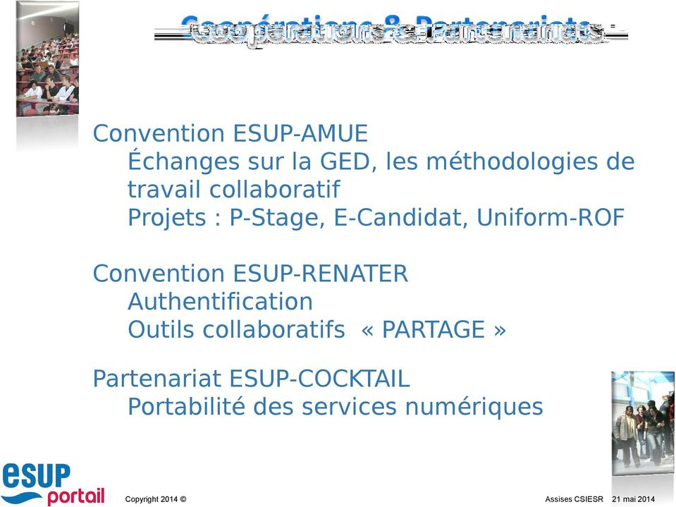 Uniform-ROF Convention ESUP-RENATER Authentification Outils