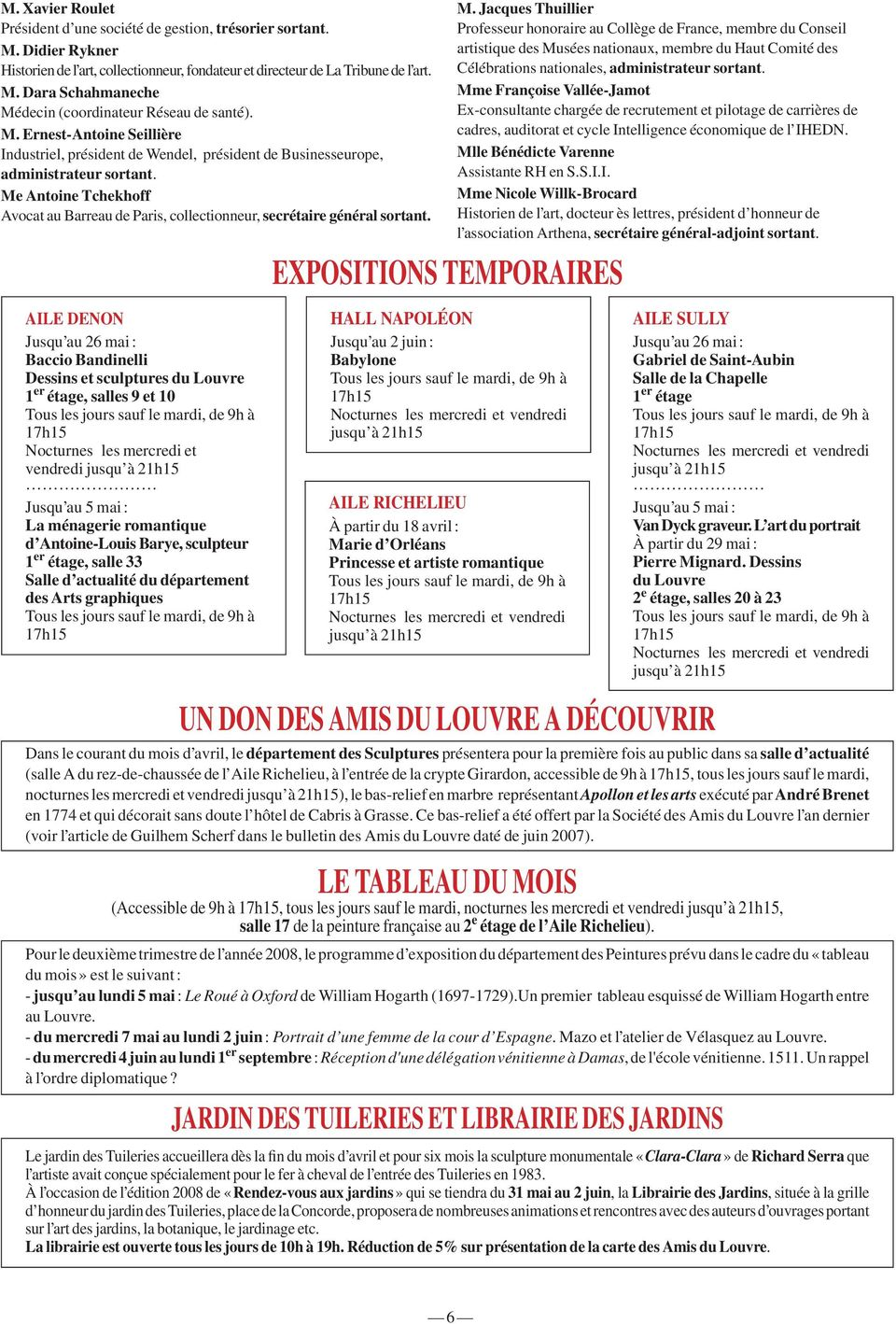 EXPOSITIONS TEMPORAIRES M.