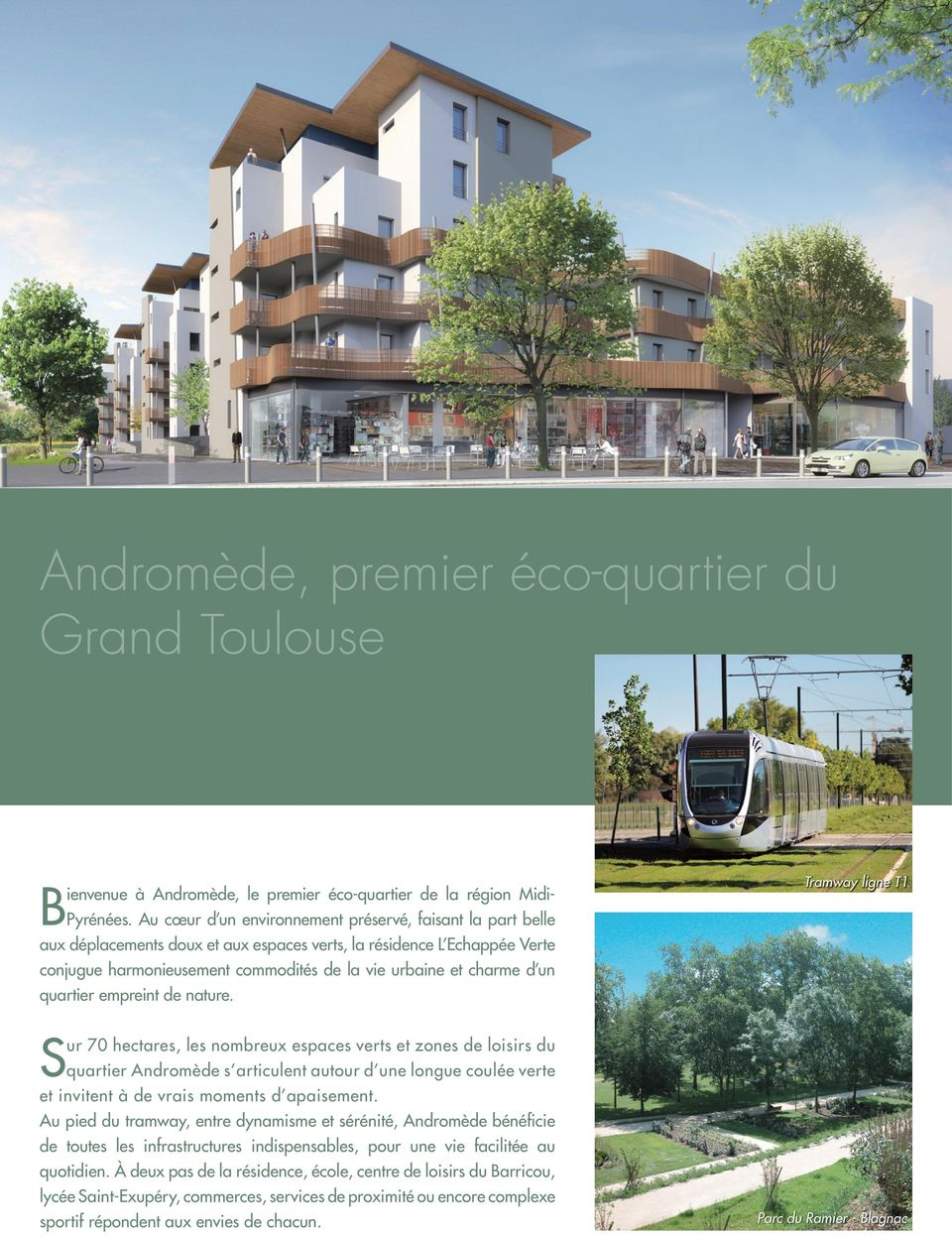 un quartier empreint de nature.