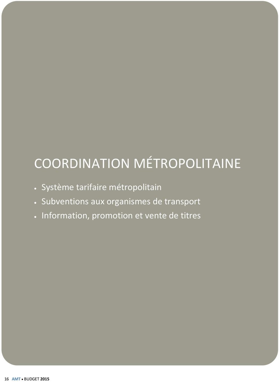 organismes de transport Information,