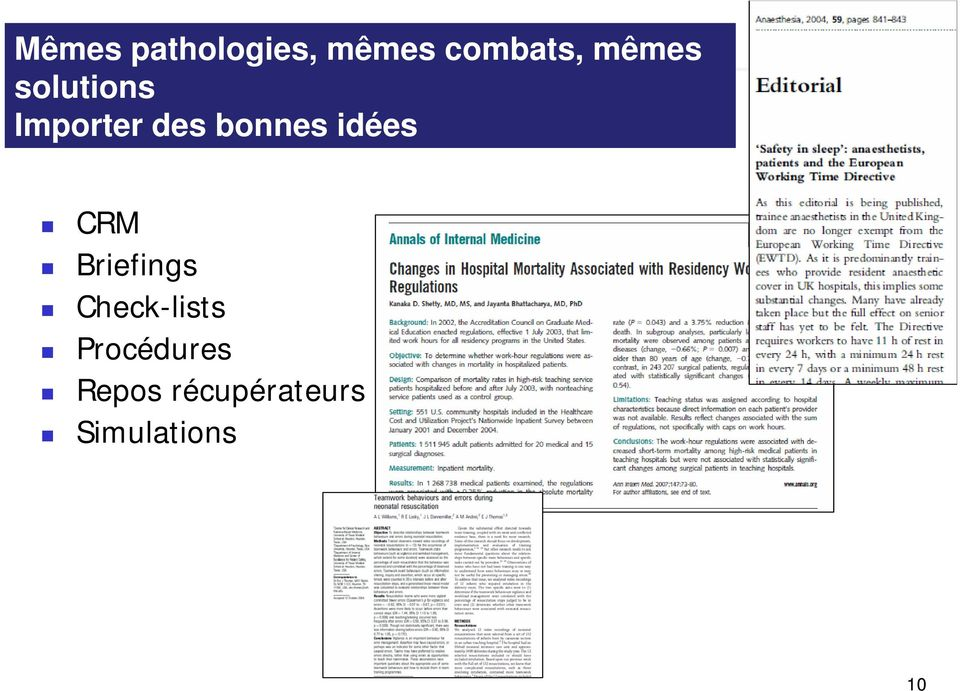 idées CRM Briefings Check-lists