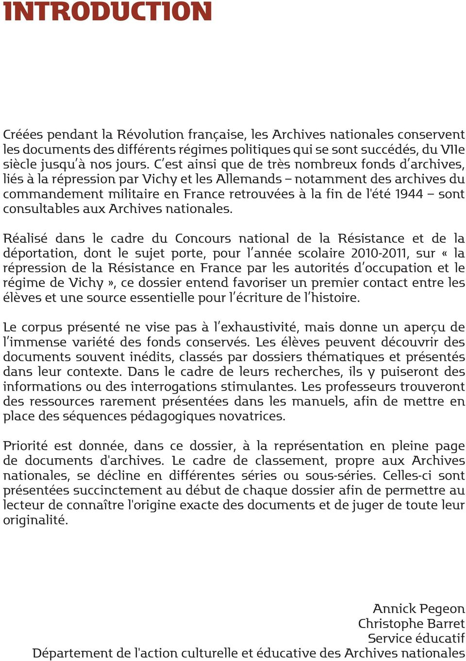 consultables aux Archives nationales.