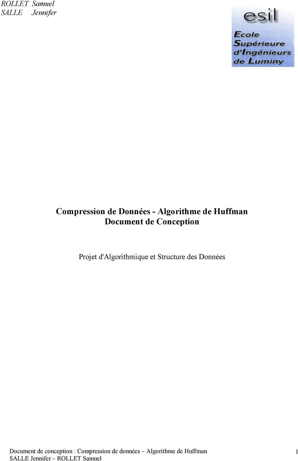 de Huffman Document de Conception