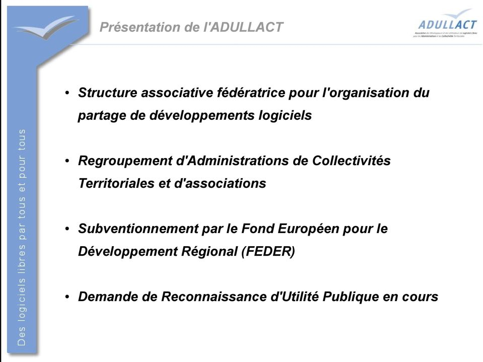 Collectivités Territoriales et d'associations Subventionnement par le Fond