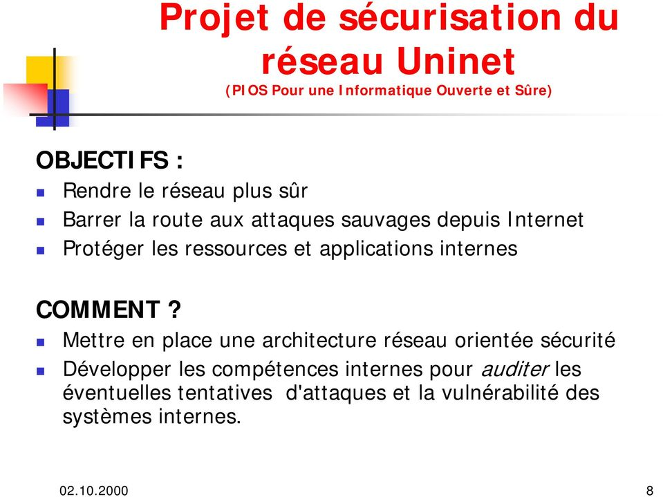 applications internes COMMENT?