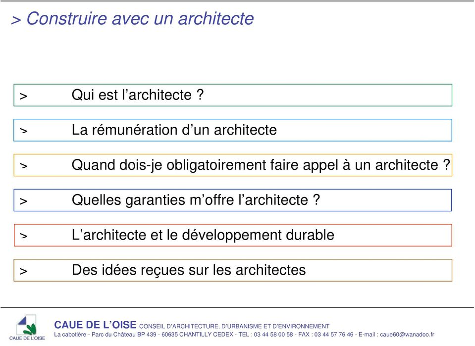 faire appel à un architecte?