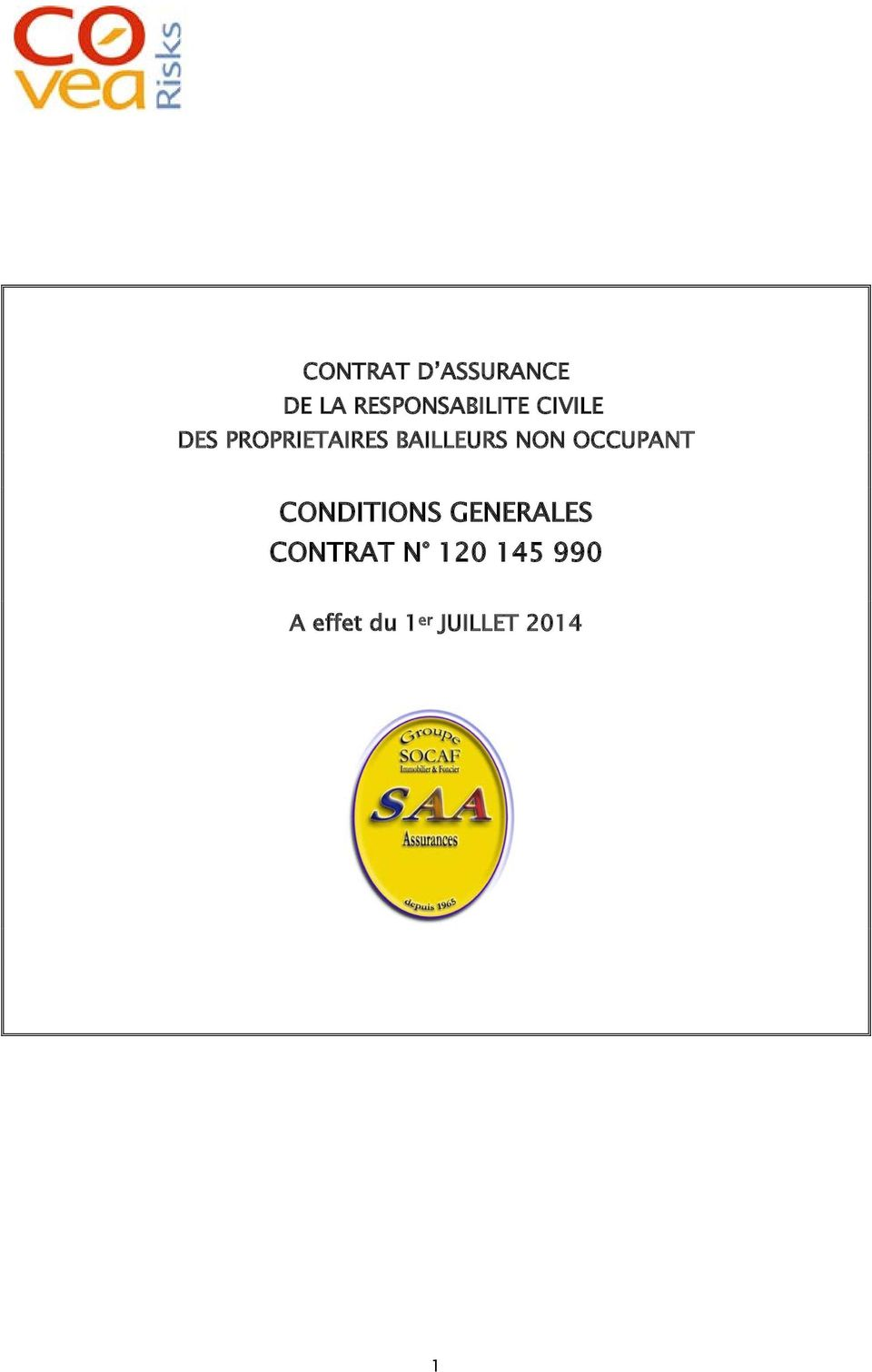 OCCUPANT CONDITIONS GENERALES CONTRAT N